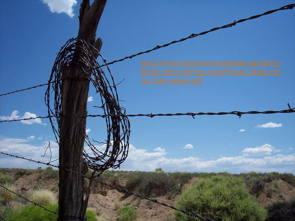 http://www.museumonmainstreet.org/admin/ fences_admin/fences_local/Fences_Great_Fen ce_Crisis_Lesson.pdf