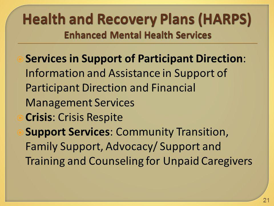  Services in Support of Participant Direction: Information and Assistance in Support of Participant Direction and Financial Management Services  Cri