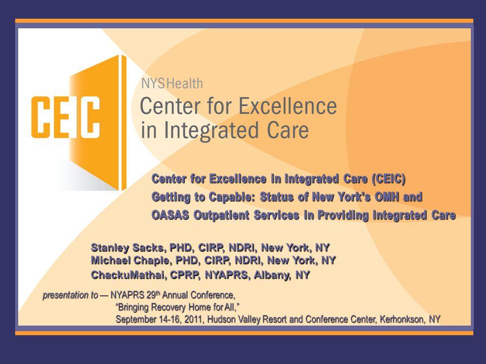 1 Stanley Sacks, PHD, CIRP, NDRI, New York, NY Michael Chaple, PHD, CIRP, NDRI, New York, NY ChackuMathai, CPRP, NYAPRS, Albany, NY presentation to —