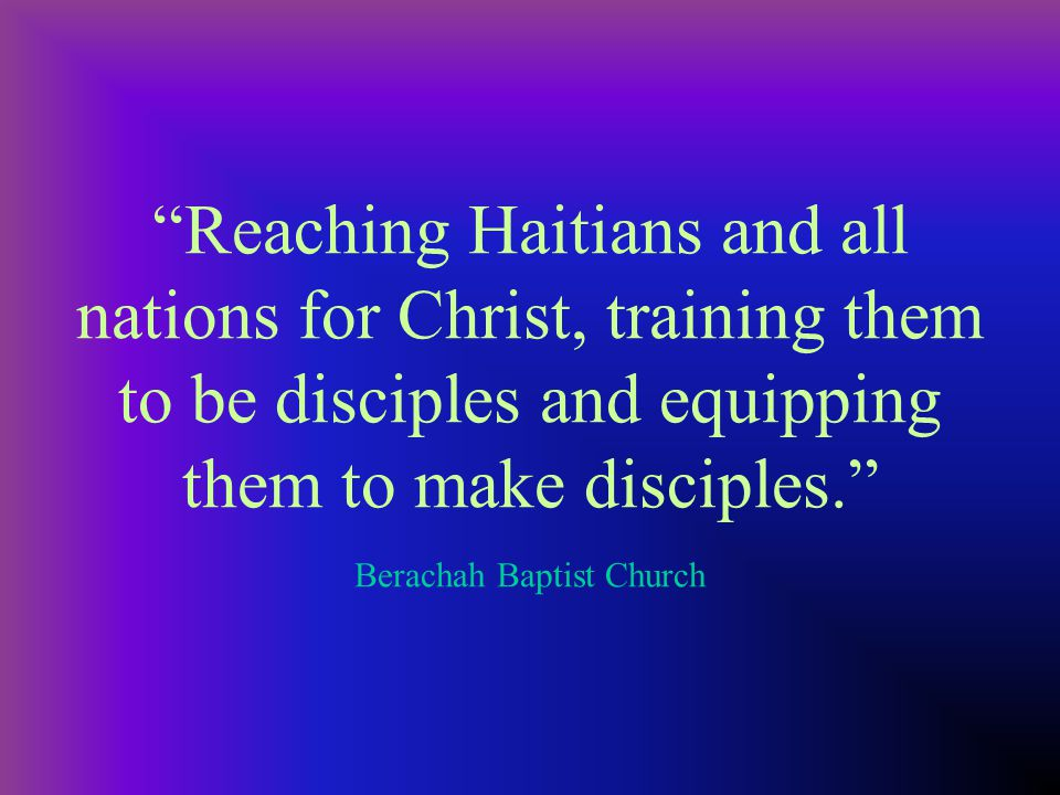 To develop our present members to Christ-like maturity, to attract and win the unchurched, developing them into Christ-like maturity and equipping everyone for a meaningful ministry in the Church. Houston Northwest Baptist Church