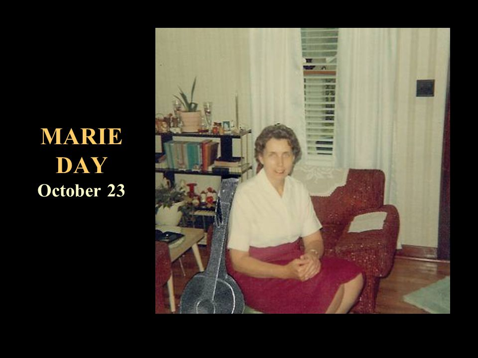 MARIE DAY October 23