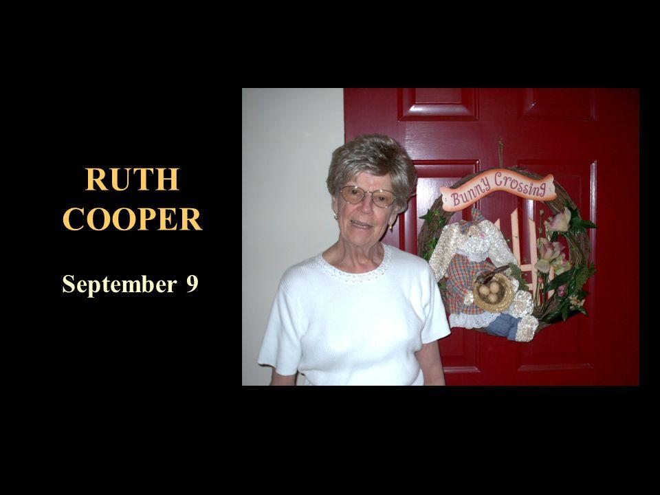 RUTH COOPER September 9