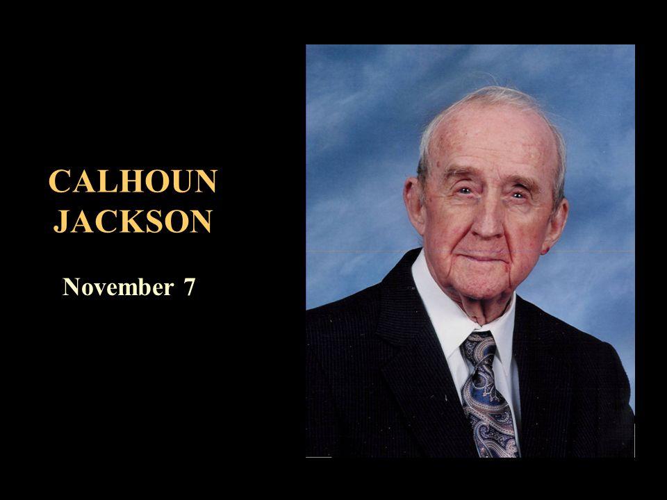 CALHOUN JACKSON November 7