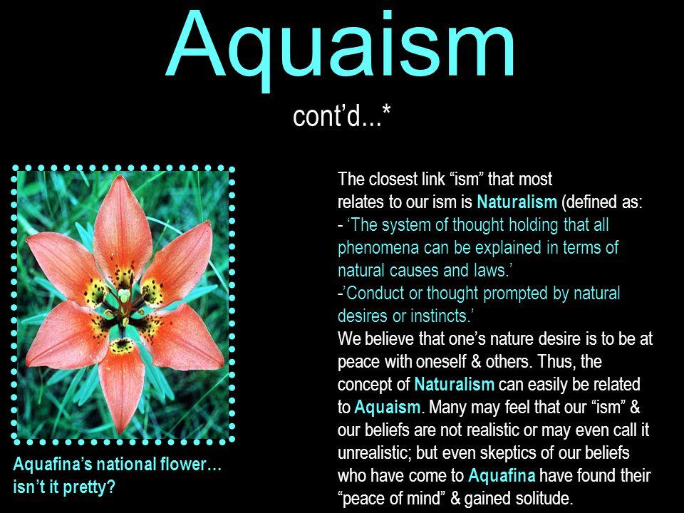 Aquaism cont'd...* Aquafina's national flower… isn't it pretty.