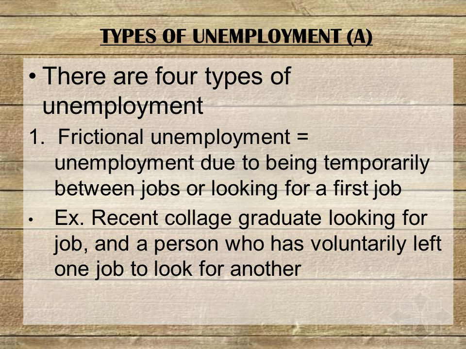 There are four types of unemployment 1.