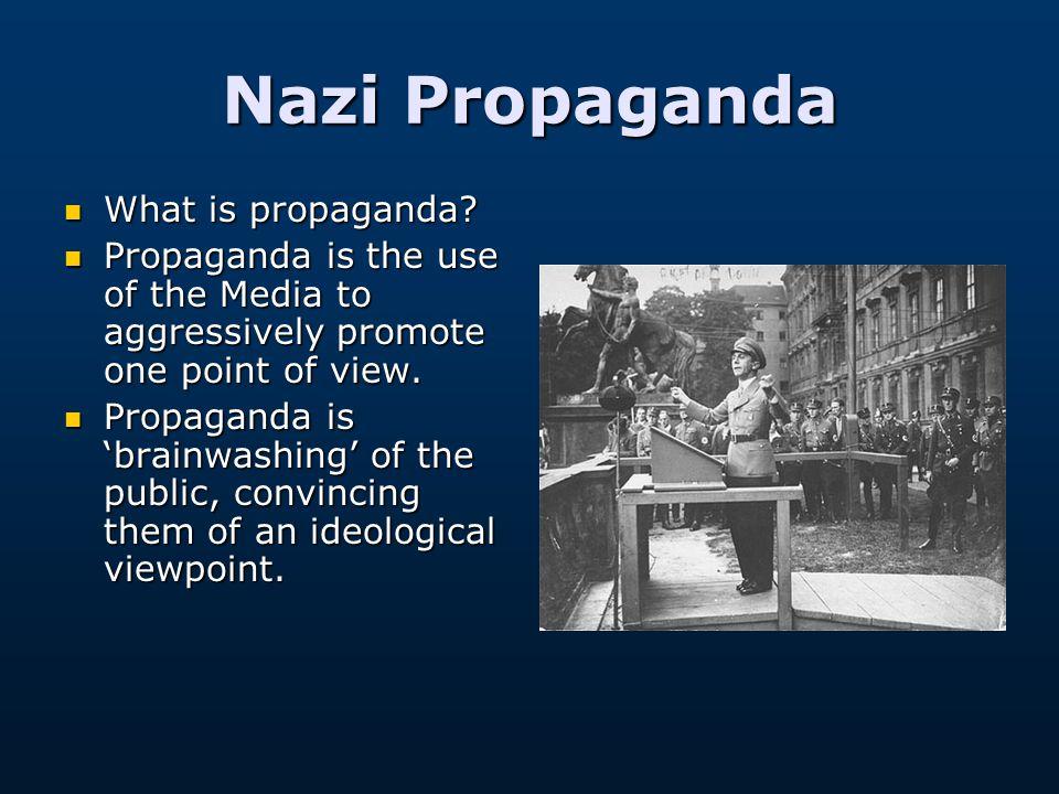 Nazi Propaganda Adapted from Mr Moorhouse www.SchoolHistory.co.uk