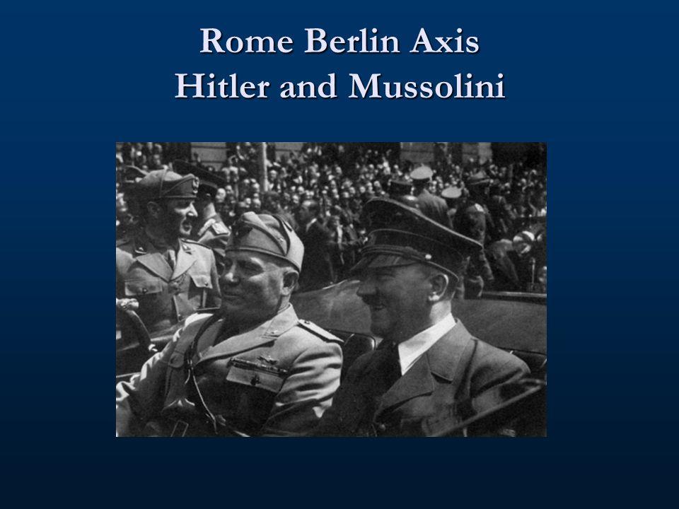 Mussolini's Goals