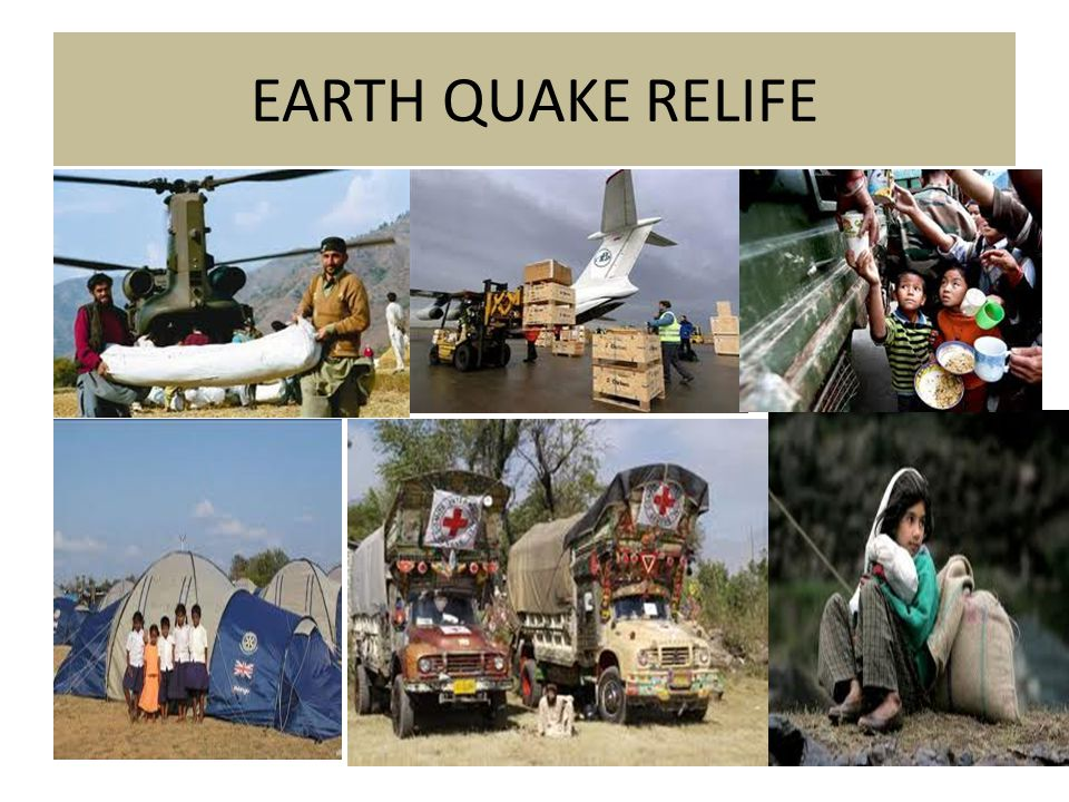EARTH QUAKE RELIFE