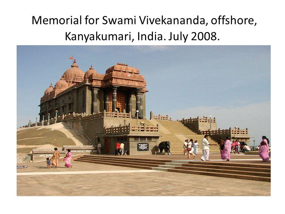 Memorial for Swami Vivekananda, offshore, Kanyakumari, India. July 2008.