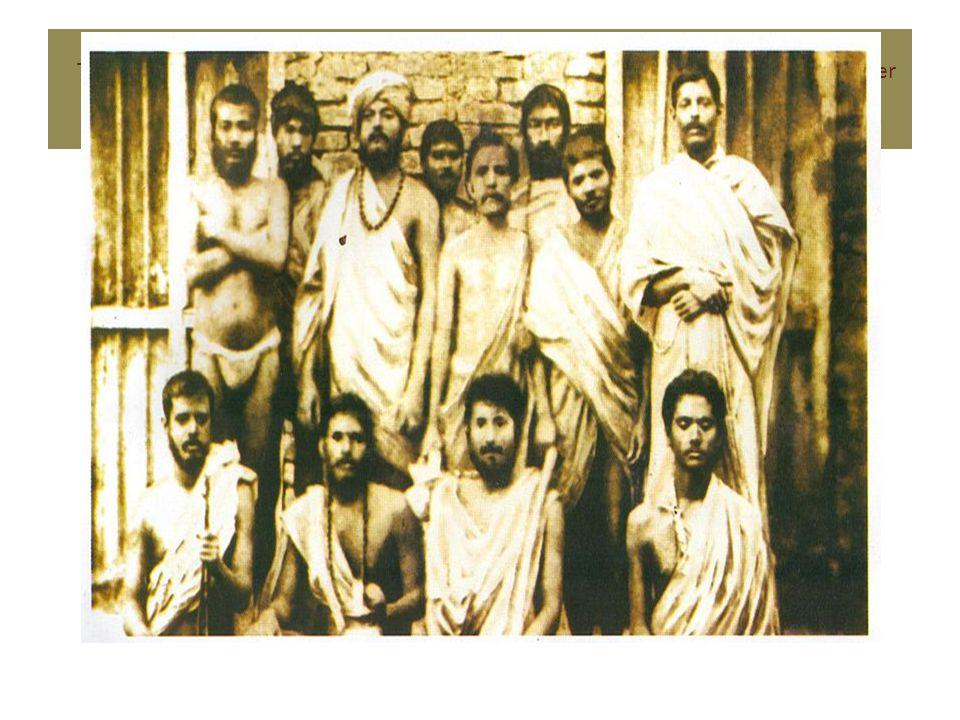 This image was taken on 30 January 1887 In Baranagar Math, Kolkata.