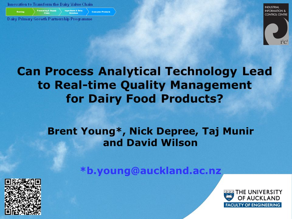 The Nature of Dairy/Food Materials Biological sources of variation Highly perishable Properties are time dependent Properties are often not well characterised Presents considerable challenges –to process design, control and optimisation systems –to sustainably produce safe, consistent and economically viable products