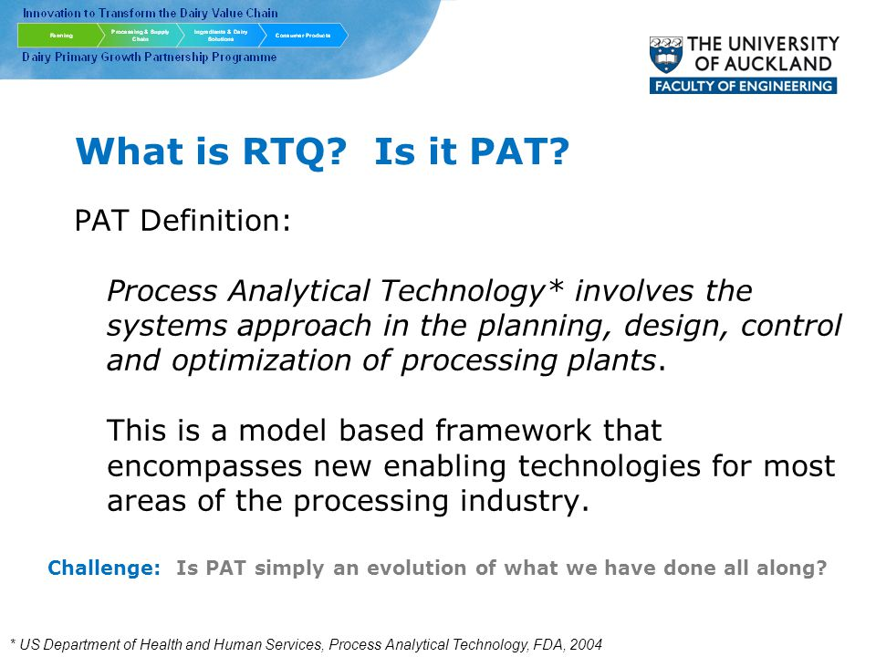 What is RTQ. Is it PAT.