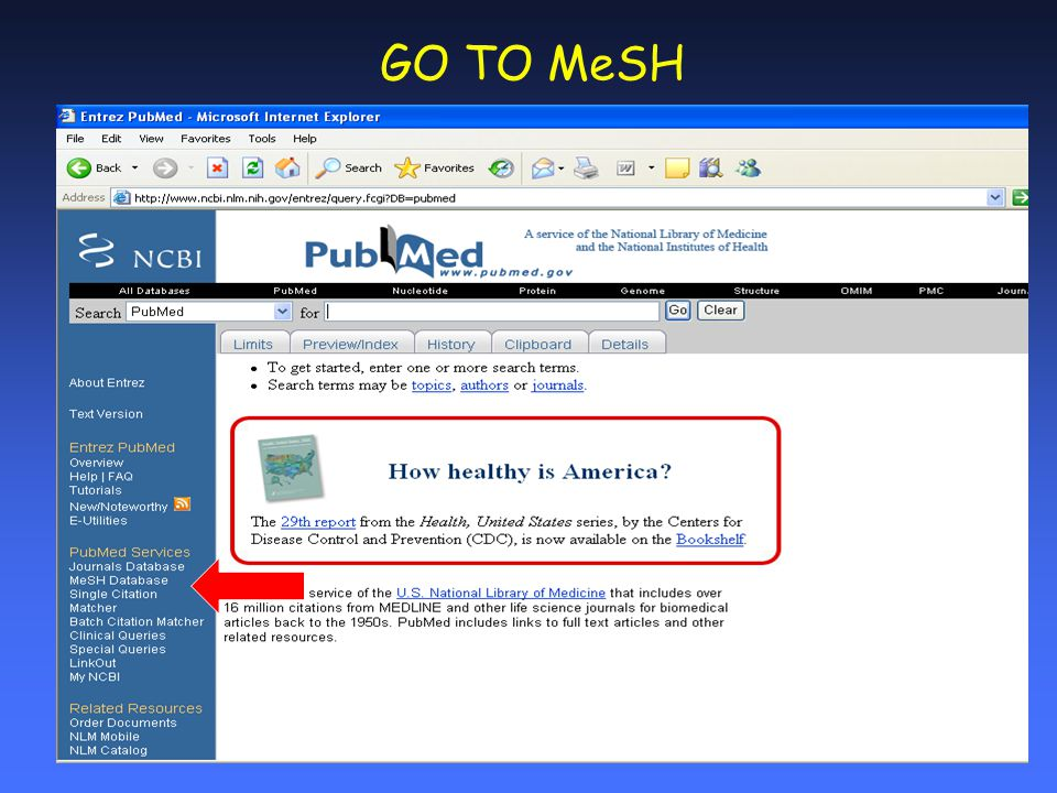 GO TO MeSH