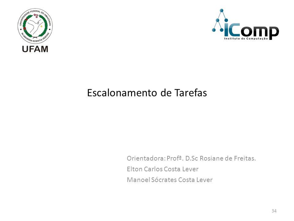 34 Escalonamento de Tarefas Orientadora: Profª.D.Sc Rosiane de Freitas.