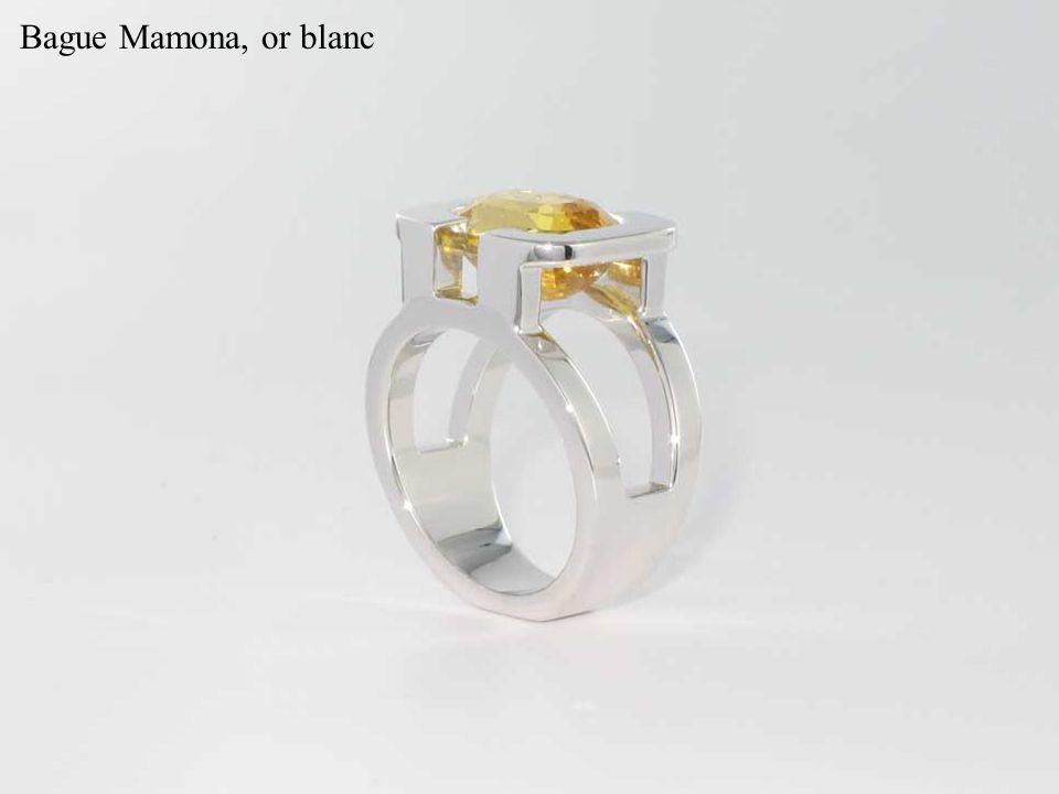 Bague Mamona, or blanc