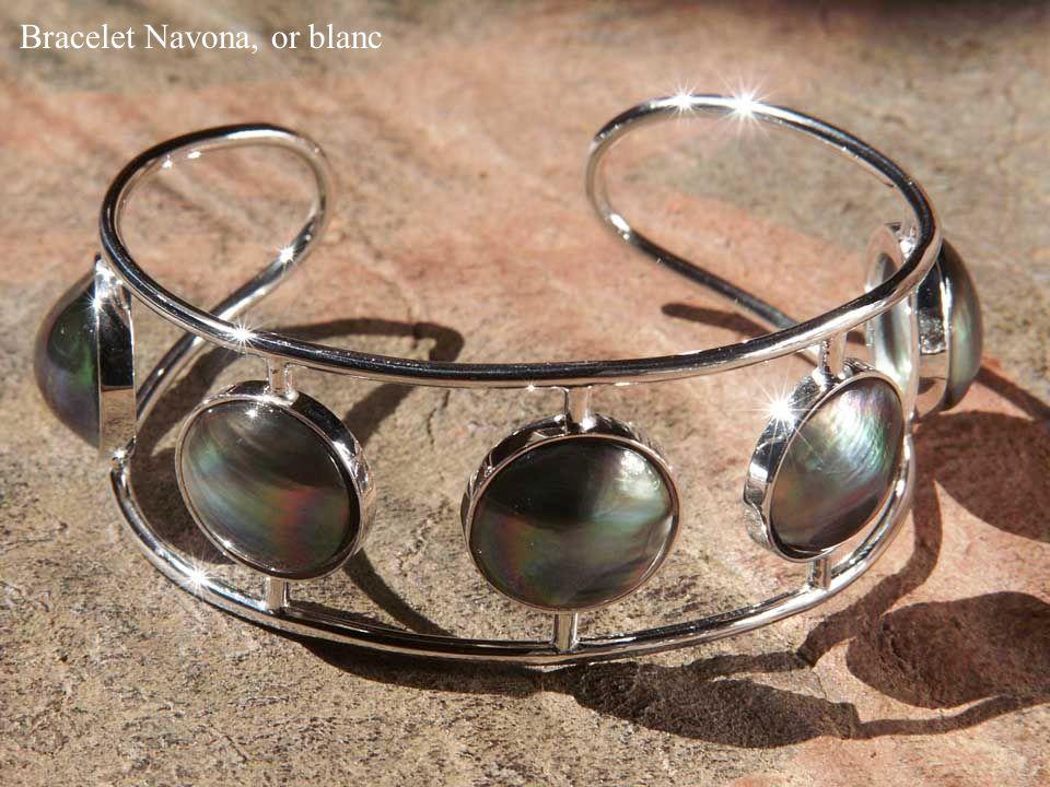 Bracelet Navona, or blanc