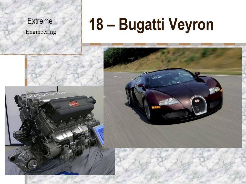 18 – Bugatti Veyron Extreme Engineering