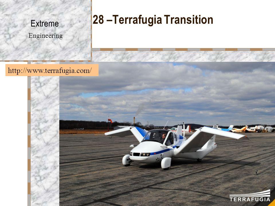 28 –Terrafugia Transition Extreme Engineering http://www.terrafugia.com/