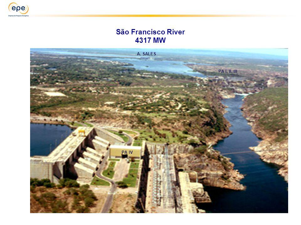 São Francisco River 4317 MW PA I, II, III A. SALES PA IV
