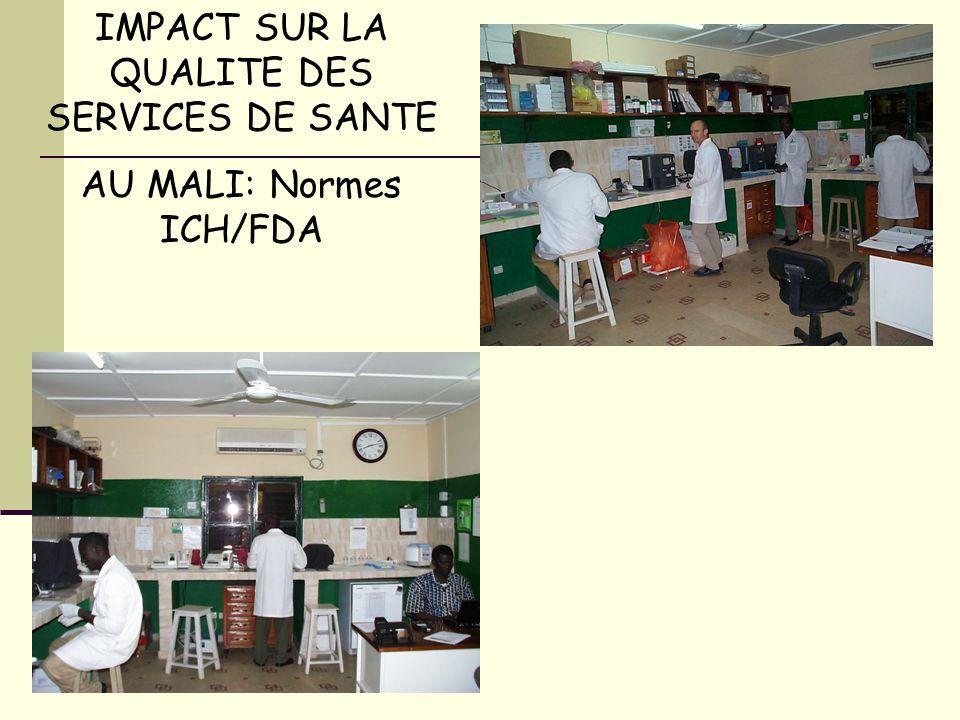 IMPACT SUR LA QUALITE DES SERVICES DE SANTE AU MALI: Normes ICH/FDA
