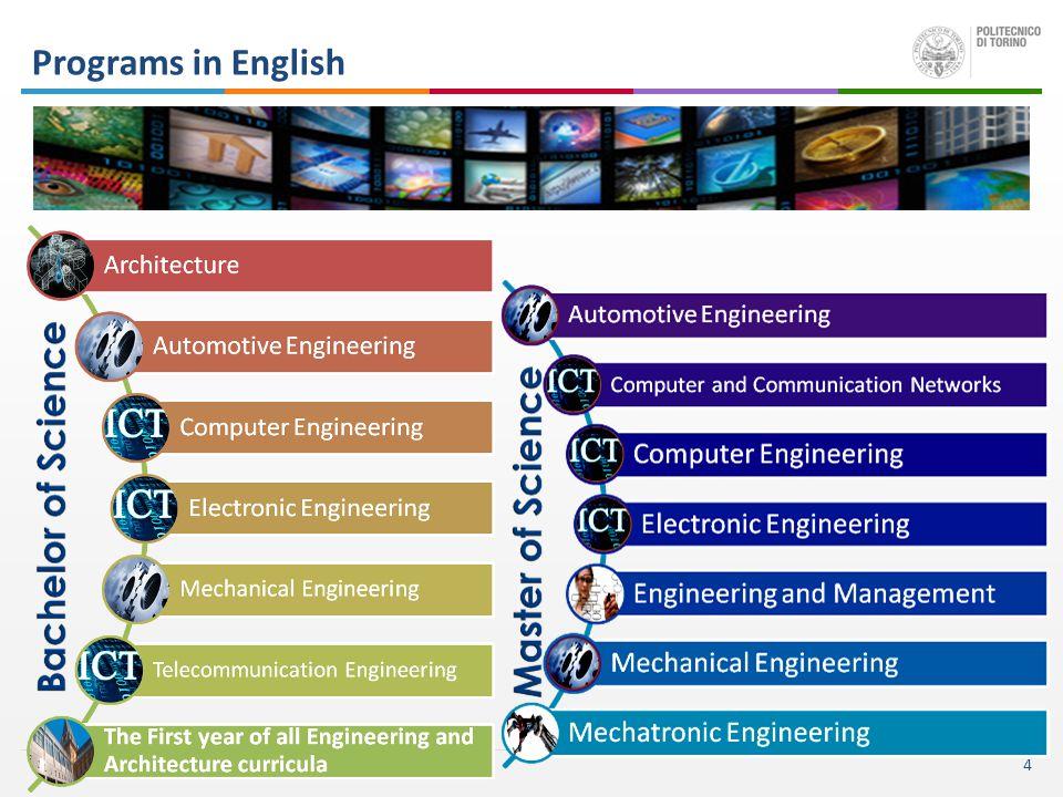 4 Programs in English