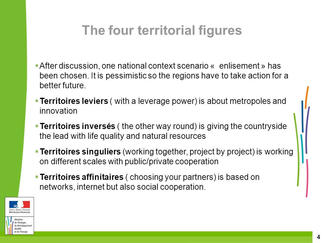 4  After discussion, one national context scenario « enlisement » has been chosen.