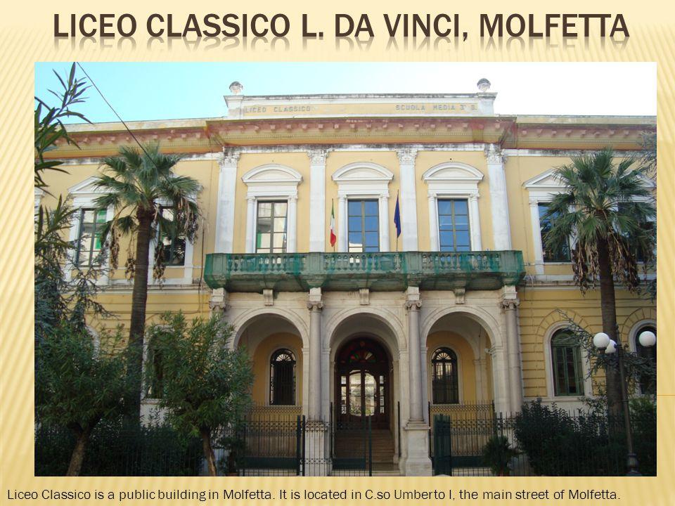 Liceo Classico is a public building in Molfetta.