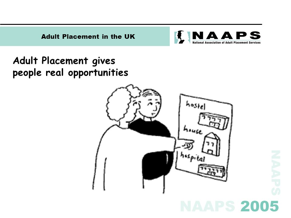 NAAPS NAAPS 2005 Adult Placement in the UK Adult Placement gives people real opportunities