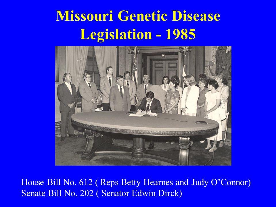 Missouri Genetic Disease Legislation - 1985 House Bill No.