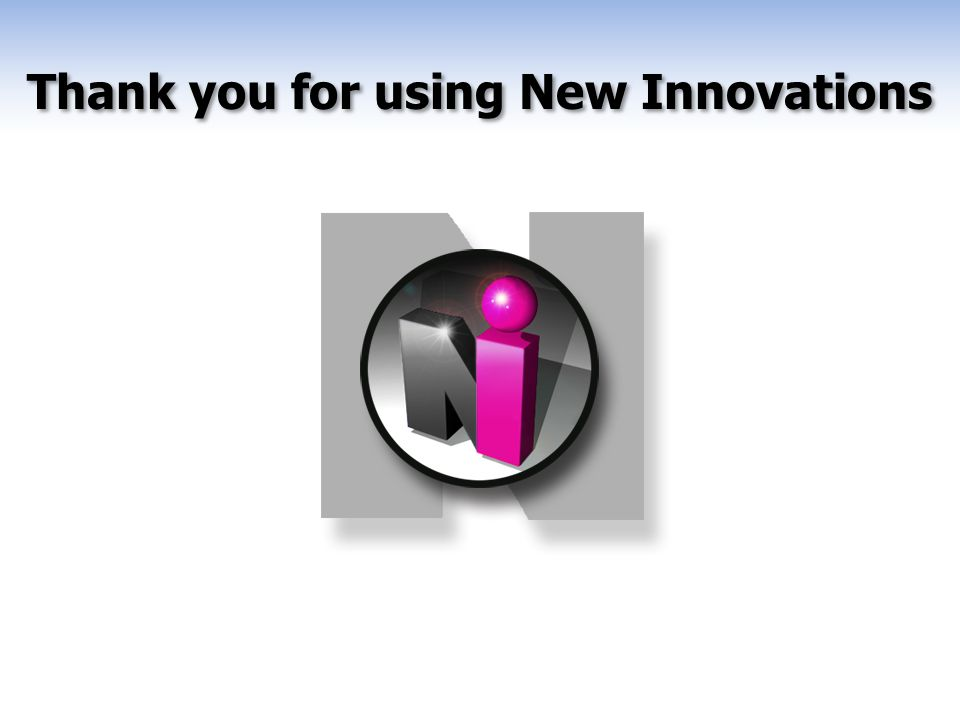Thank you for using New Innovations End
