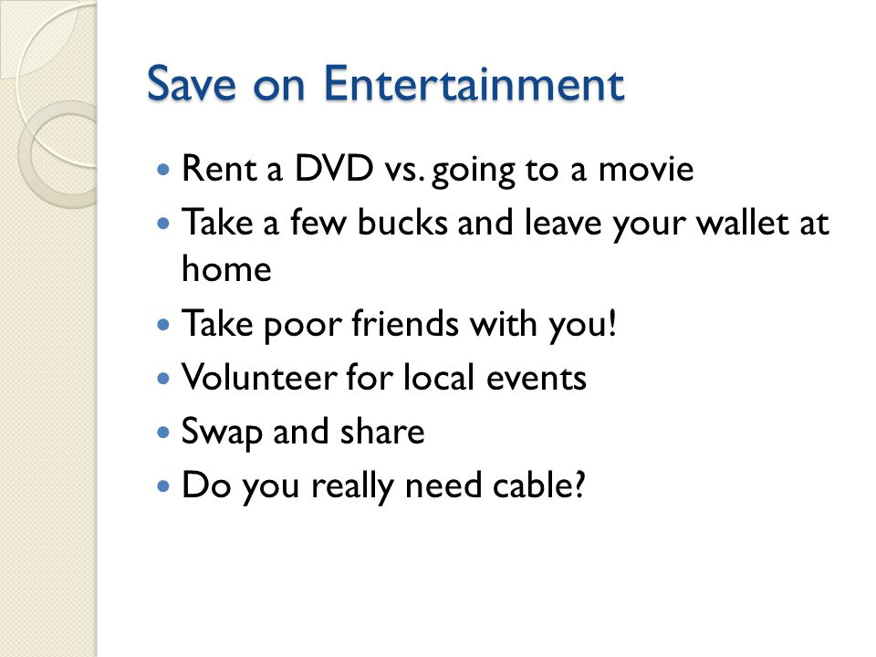 Save on Entertainment Rent a DVD vs.