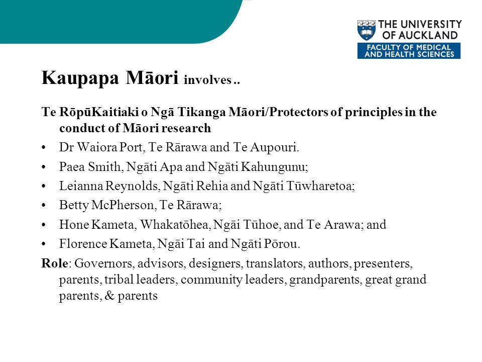 Kaupapa Māori involves..