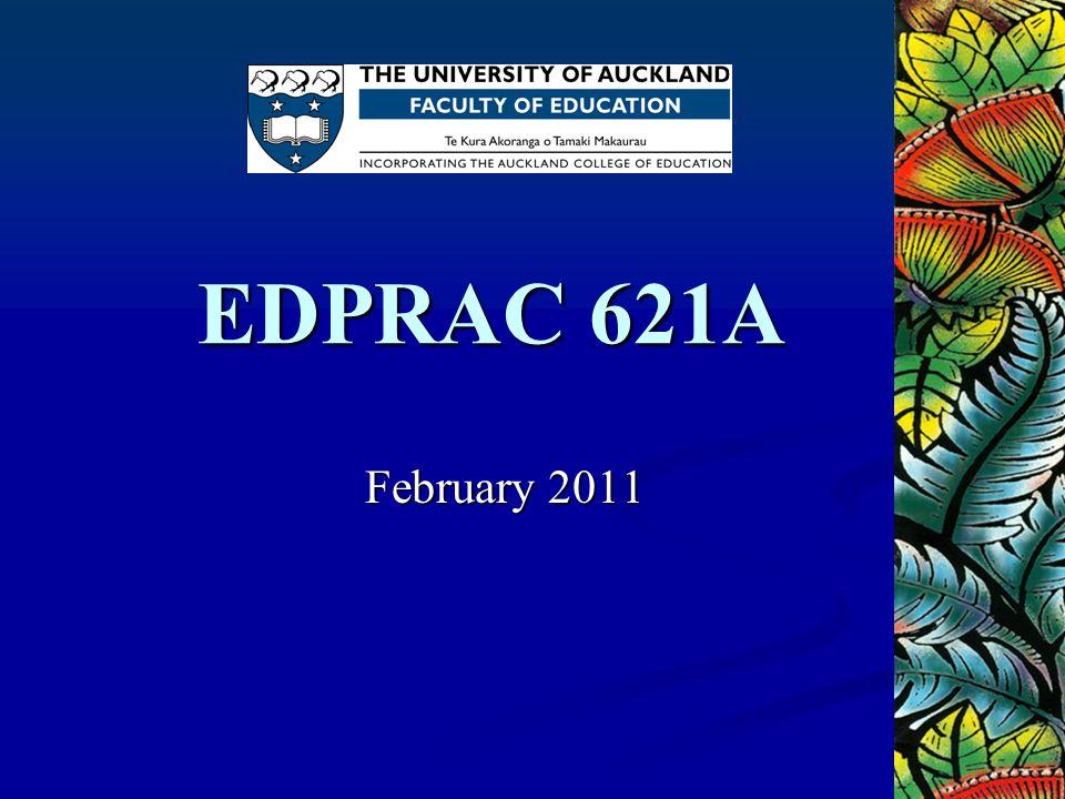EDPRAC 621A February 2011