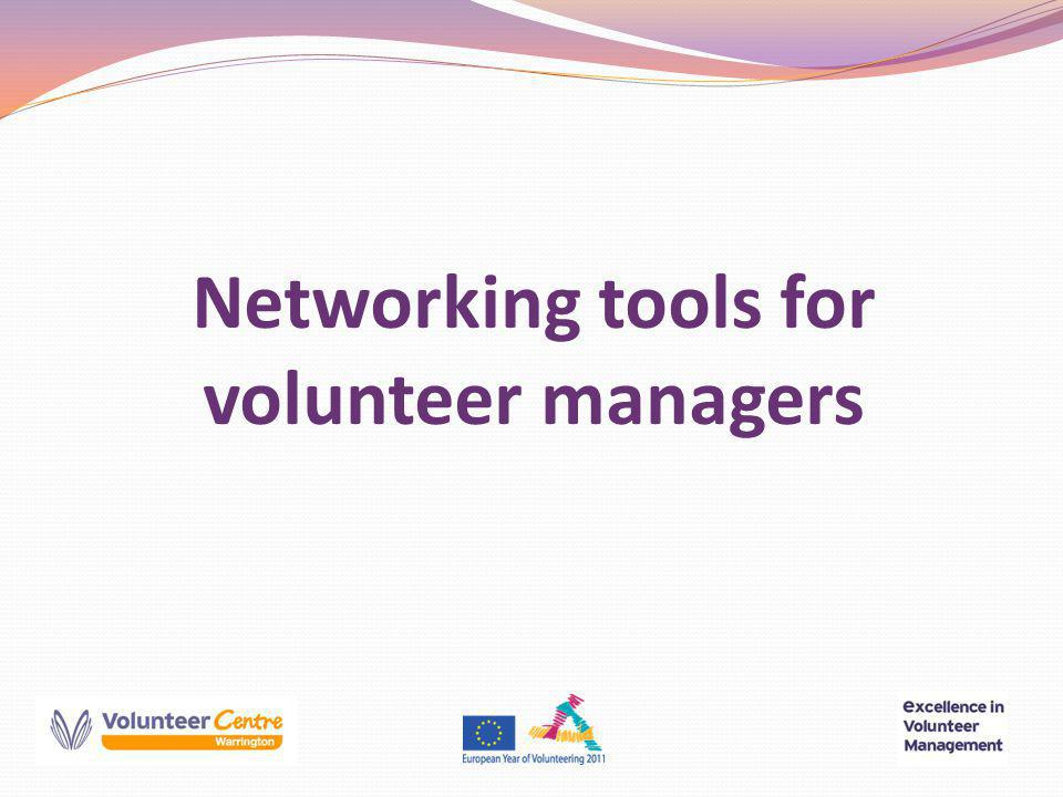 © Networking tools for volunteer managers