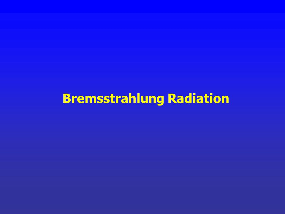 X-ray spectra are composed of: 1. Continuous bremsstrahlung spectra 2. In most cases, discrete spectra peaks known as characteristic x-rays. keV Brems