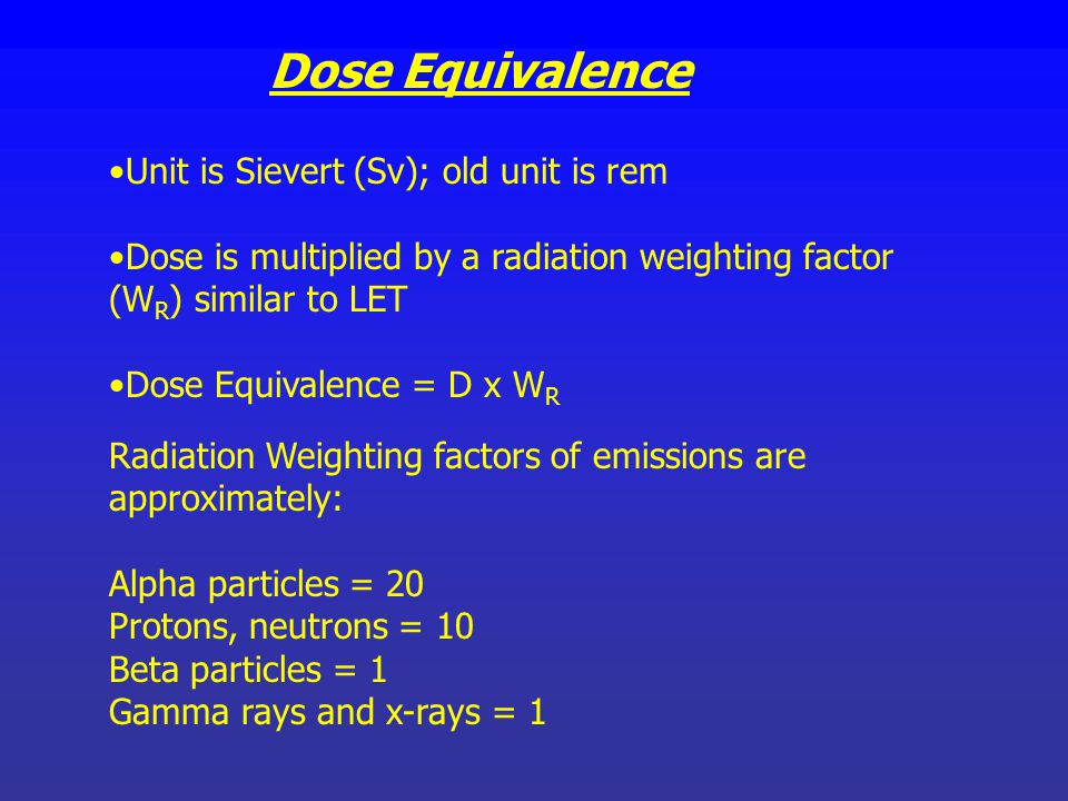 Absorbed dose SI Unit is Gray (Gy); old unit is rad Dose absorbed by the irradiated material accompanied by 1 joule (100 ergs) of energy. The quantity