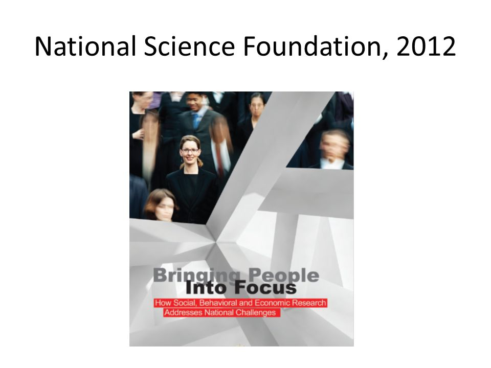 National Science Foundation, 2012
