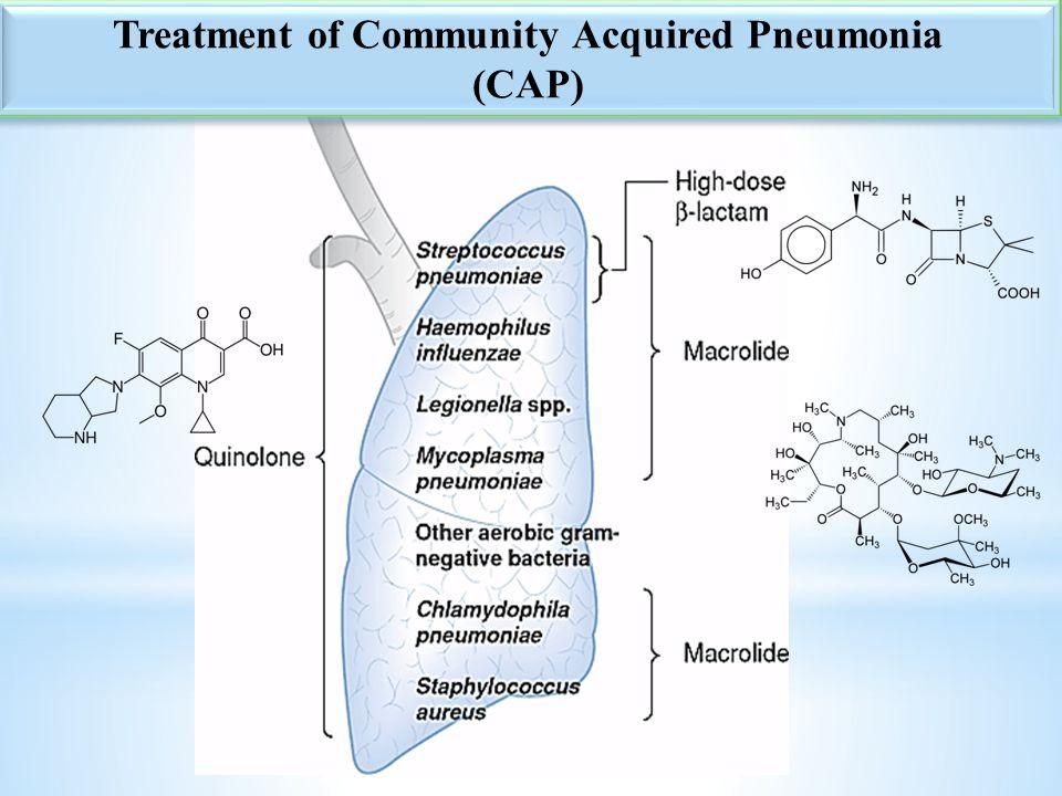 9 Treatment of Community Acquired Pneumonia (CAP) Treatment of Community Acquired Pneumonia (CAP)