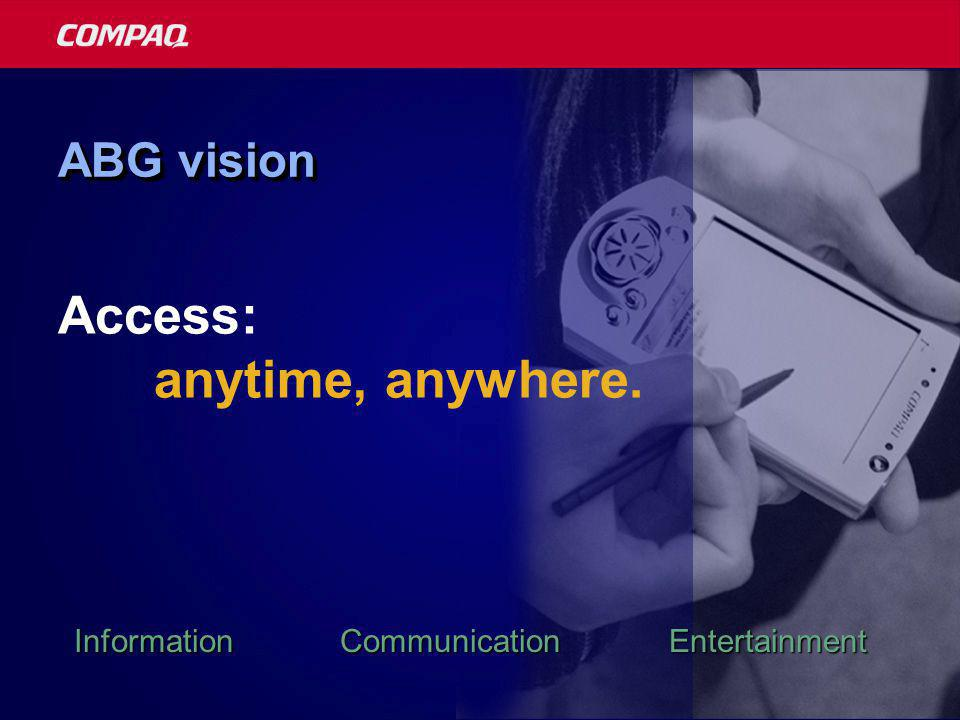 ABG vision Access: anytime, anywhere. Information Communication Entertainment