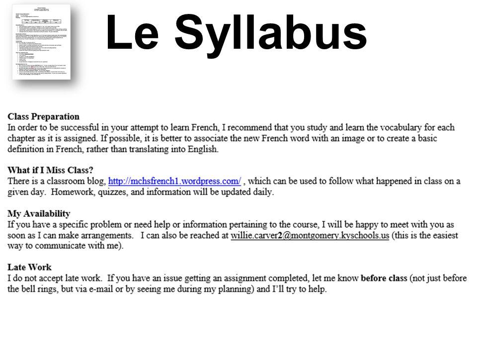 Le Syllabus