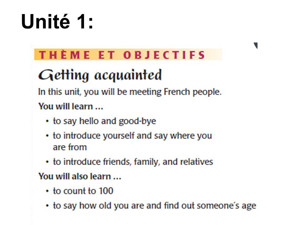 Unité 1:
