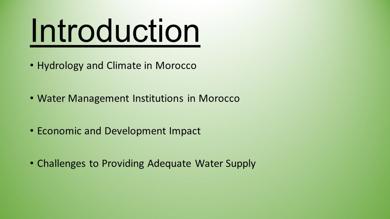 Hydrology and Climate