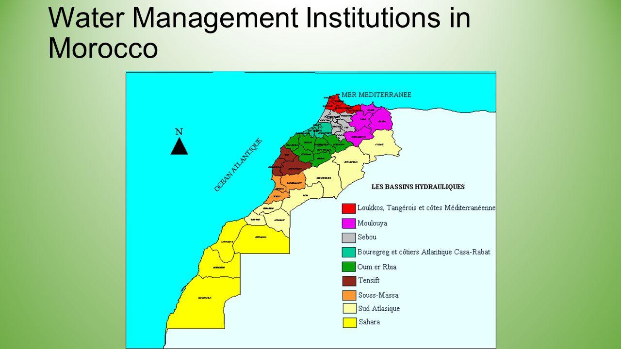 7 ORGANISATION DU SECTEUR DE L ' EAU AU MAROC Opérateurs ou utilisateurs de l'eau Opérateurs ou utilisateurs de l'eau Instance Consultative Instance Consultative Conseil Supérieur de l'Eau et du Climat MEMEE ABH M.