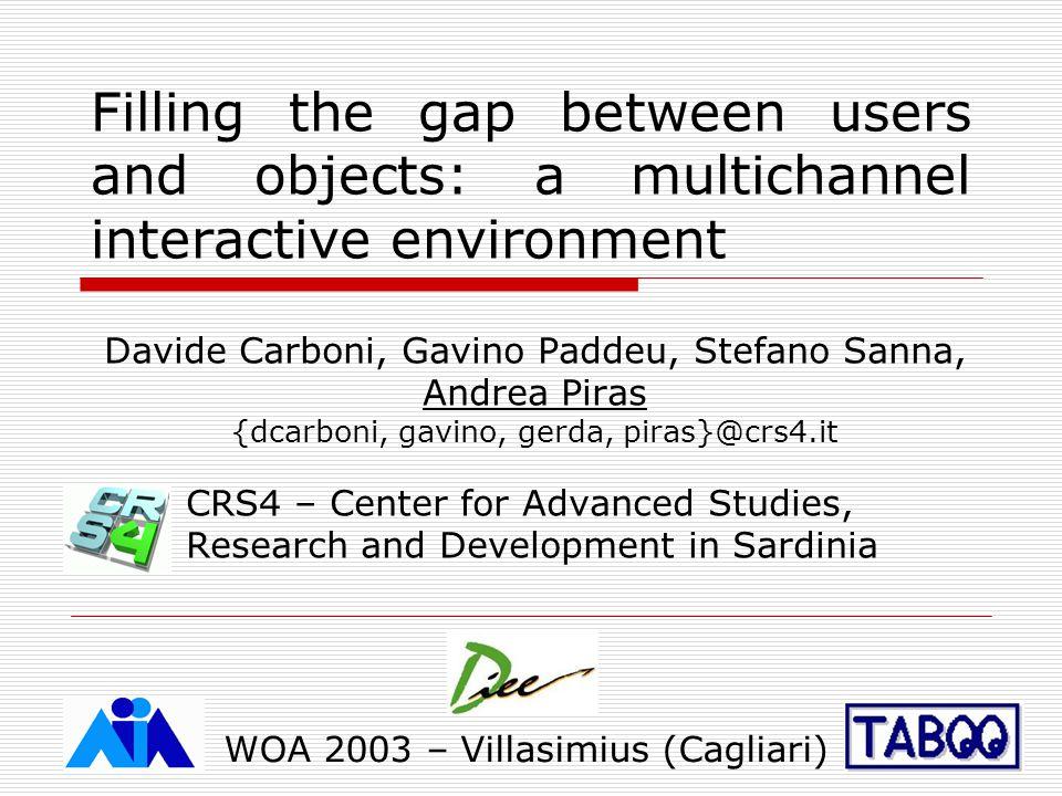 WOA 2003 – Villasimius (Cagliari) Personal agenda on fat clients
