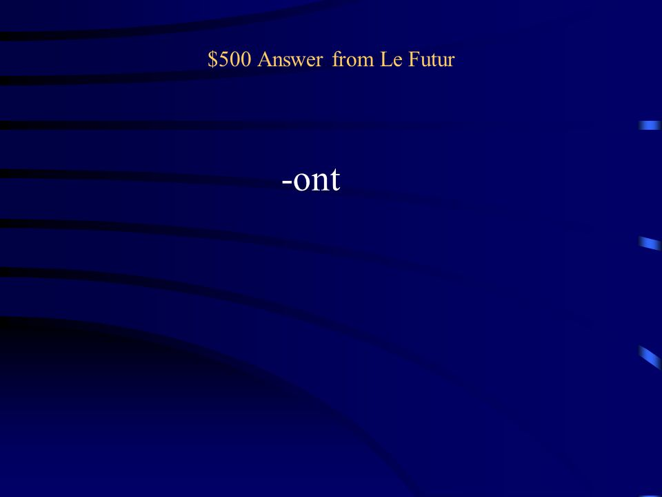 $500 Question from Le Futur Ils/Elles