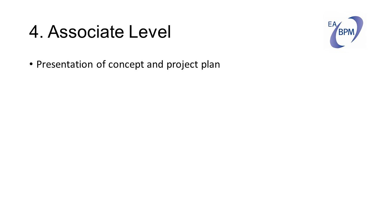 4. Associate Level Presentation of concept and project plan