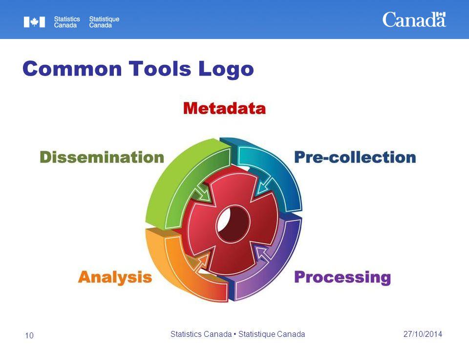 27/10/2014 Statistics Canada Statistique Canada 10 Common Tools Logo