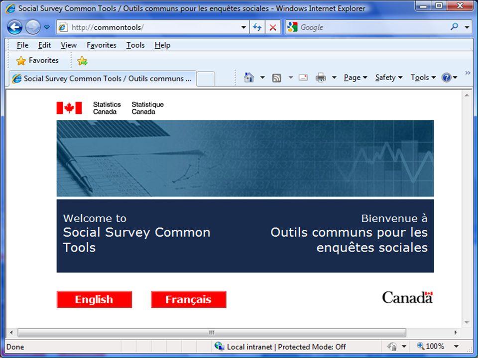 27/10/2014 Statistics Canada Statistique Canada 22 Common Tools Portal
