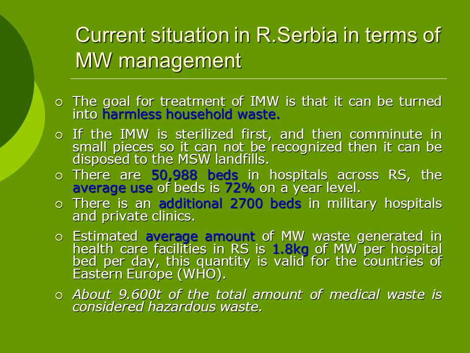 Clinical center of Vojvodina equippement for waste fragmentation is also donated from EU equippement for waste fragmentation is also donated from EU