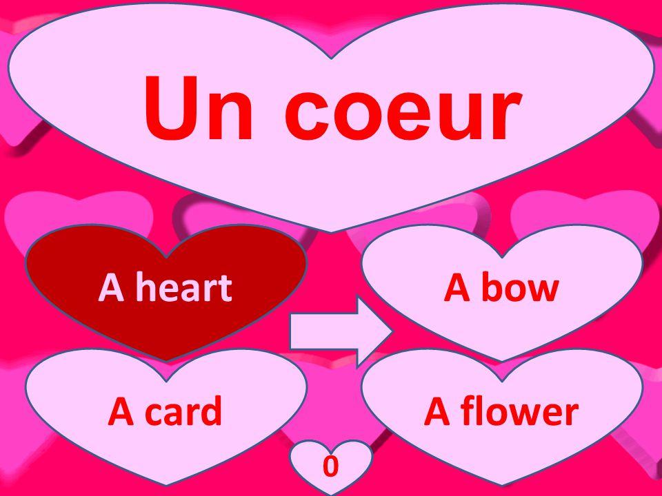 Un coeur A heartA bow A cardA flower A heart 3210